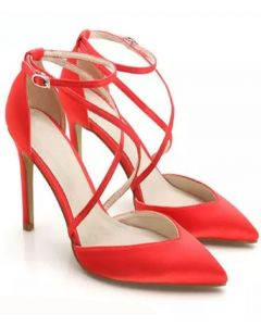 Geneva - Ankle Strap High Heels Pumps