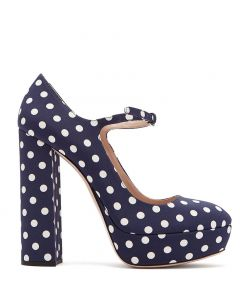 East Chicago - Polka Dots Pumps Platform High Heels