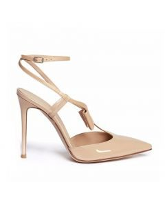 Carbondale- Nude Pumps Ankle Wrap Stilettos High Heels Sandals