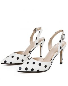 Hattie - Polka Dot Slingback High Heels Pumps