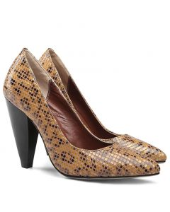 Francian - Snakeskin Leather High Heels Pumps
