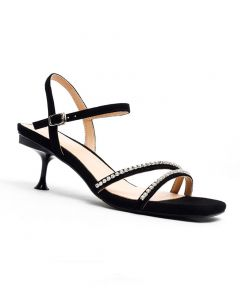 Kristina - Ankle Strap Low Heels Sandals