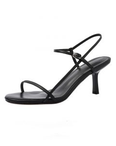 Katie - Leather Ankle Strap High Heels Sandals