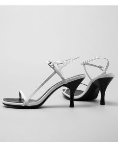 Joanne - Leather Ankle Strap Low Heels Sandals