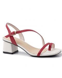 Joanna- Leather Ankle Strap Low Heels Sandals