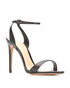 Port Hueneme - Black Fashion Stilettos Ankle Strap High Heels Sandals