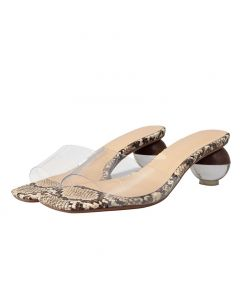 Branford Avenue Transparent Women's High Heels Sandals