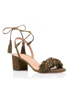 Clinton 1 - Army Green Ankle Strap Low Heels Sandals