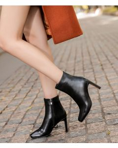 Ericsson Boulevard - Leather Sexy Winter Ankle Boots