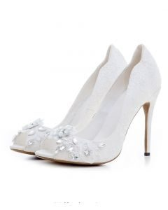 New Castle - White Fashion Stilettos High Heels Pumps