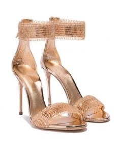 Largo Luca Della Robbia - Gold Stilettos Ankle Strap High Heels Sandals