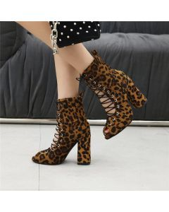 Rebecca - Lace Up Summer Ankle Boots