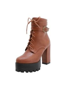 Sarah - Sexy Fashion Platform Women's Ankle Boots