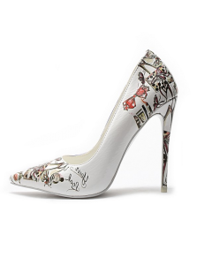 Abbeville - White Fashion Stilettos High Heels Pumps