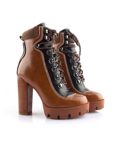 Madonna - Lace Up Fashion Platform Ankle Boots
