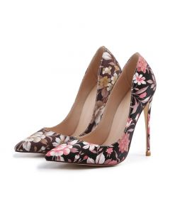Bonheurs Leather & Suede Pumps Stilettos High Heels