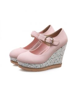 Dixon - Closed Toe Ankle Strap Wedge Heels Sandals